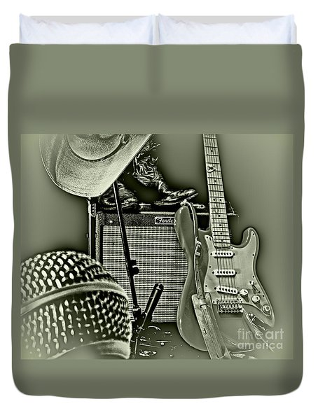 Show's Over - B W Duvet Cover