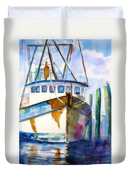 Shrimp Boat Isra Duvet Cover