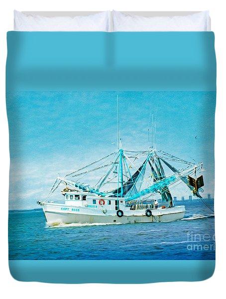 Shrimp Trawler Duvet Cover