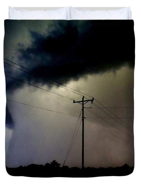 Duvet Cover featuring the photograph Shrouded Tornado by Ed Sweeney