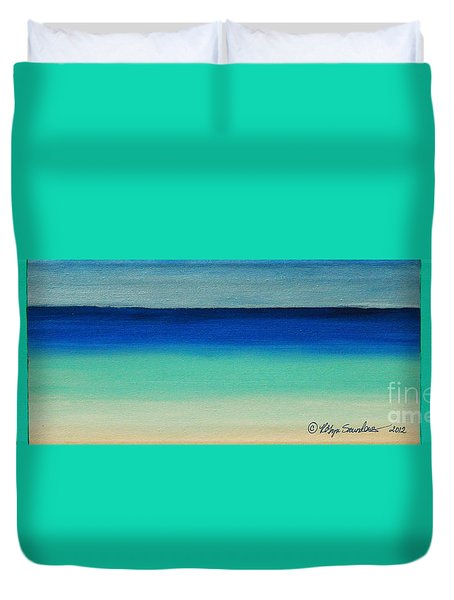 Shutter Me Sea Duvet Cover