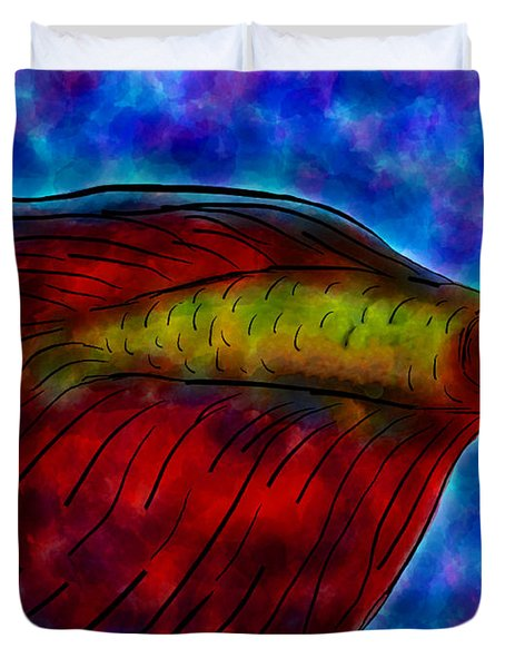Siamese Fighting Fish II Duvet Cover by Anita Lewis