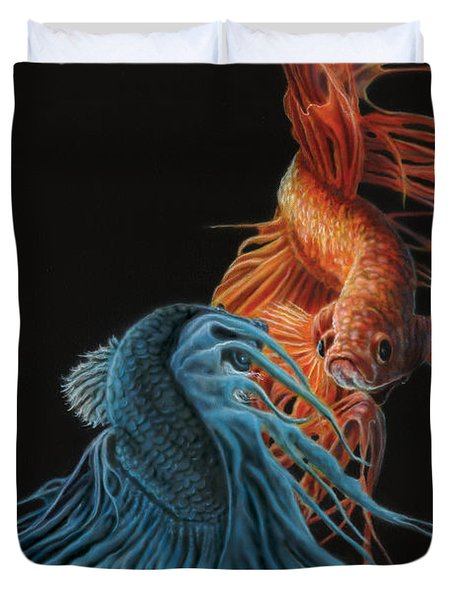 Siamese Fighting Fish Two Duvet Cover