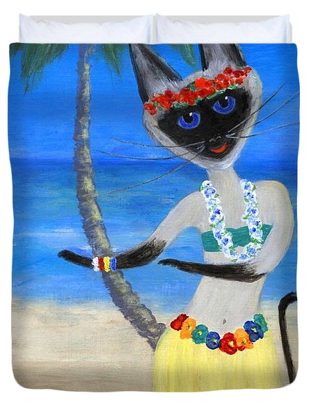 Siamese Queen Of Hawaii Duvet Cover by Jamie Frier