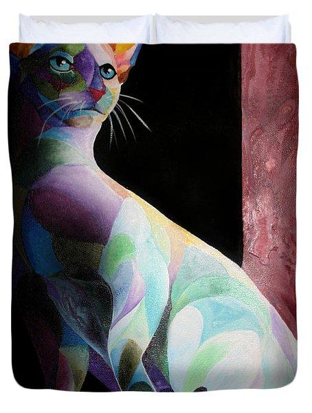 Siamese Shadow Cat 1 Duvet Cover