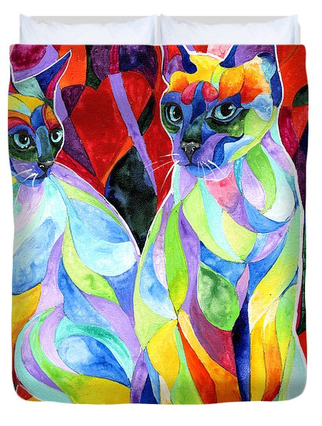 Siamese Sweethearts Duvet Cover