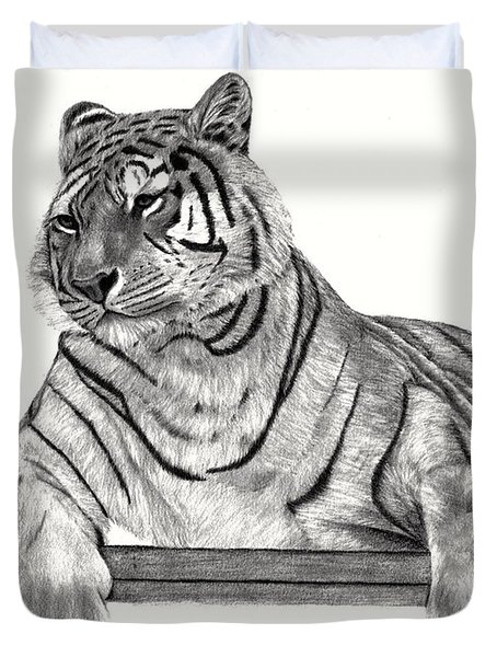 Siberian Tiger Duvet Cover by Patricia Hiltz