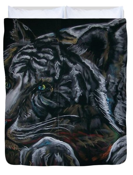 Siberian Tiger Duvet Cover by Peter Suhocke