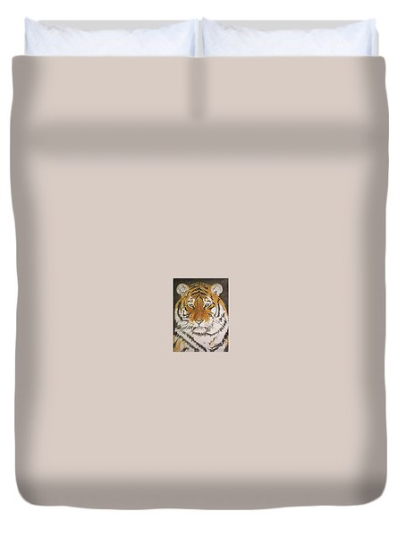 Siberian Tiger Duvet Cover by Regan J Smith