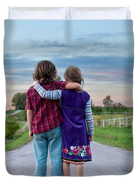 Siblings Duvet Cover