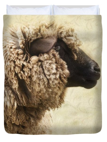 Side Face Of A Sheep Duvet Cover