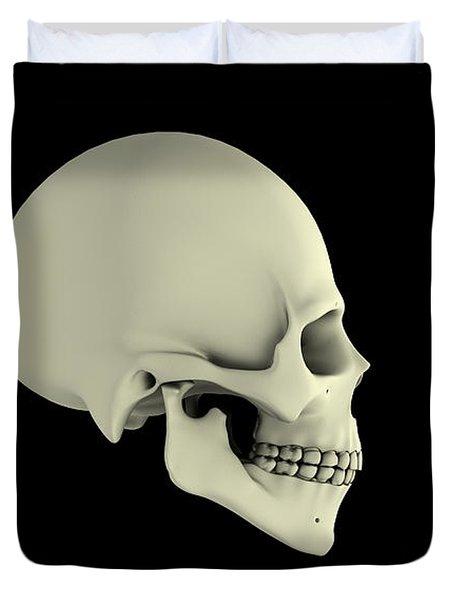 Side View Of Human Skull Duvet Cover by Stocktrek Images