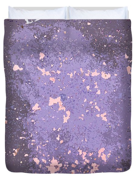 Sidewalk Abstract-10 Duvet Cover