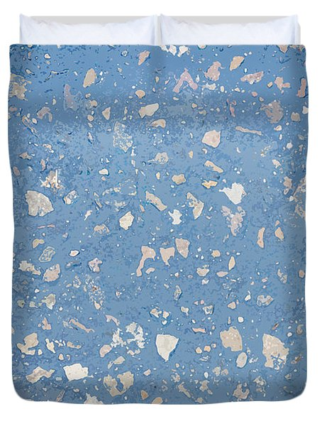 Sidewalk Abstract-11 Duvet Cover by Art Block Collections