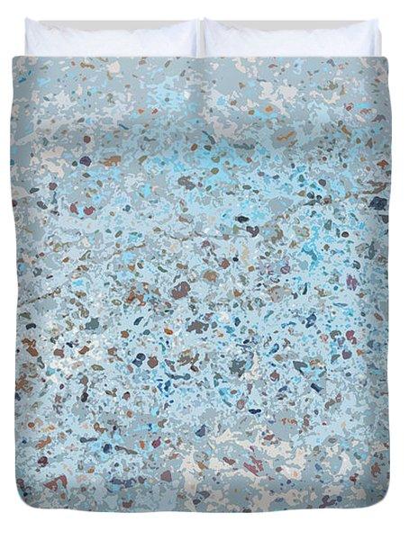 Sidewalk Abstract-12 Duvet Cover