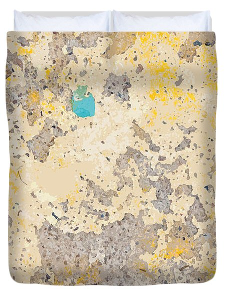 Sidewalk Abstract-3 Duvet Cover by Art Block Collections
