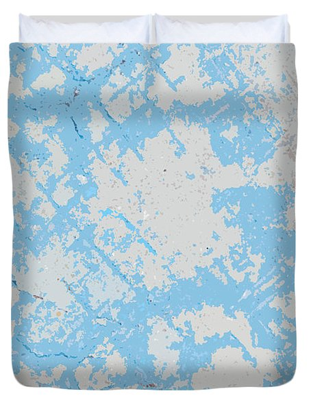 Sidewalk Abstract-4 Duvet Cover by Art Block Collections