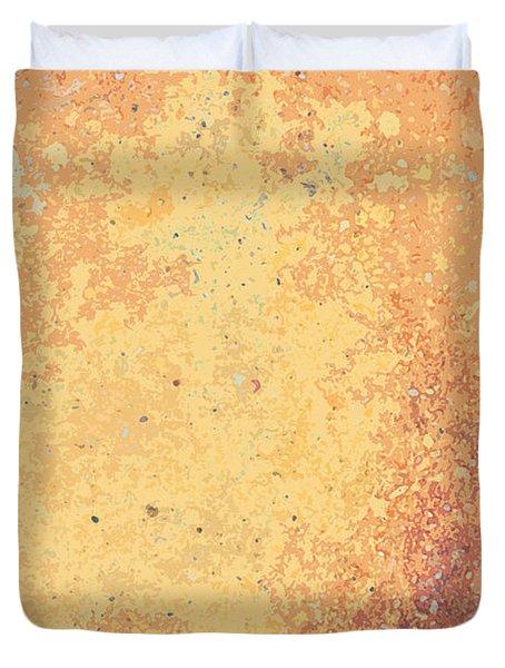 Sidewalk Abstract-8 Duvet Cover