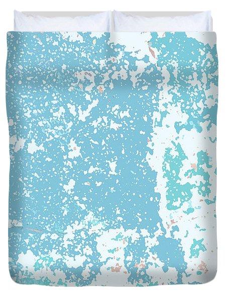 Sidewalk Abstract-9 Duvet Cover