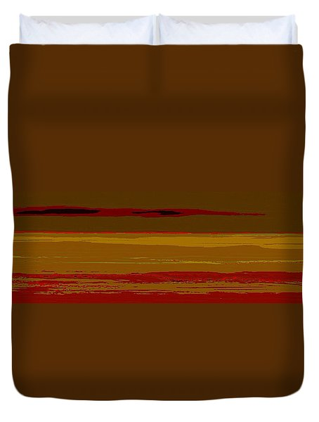 Duvet Cover featuring the digital art Sienna Vista by Anthony Fishburne