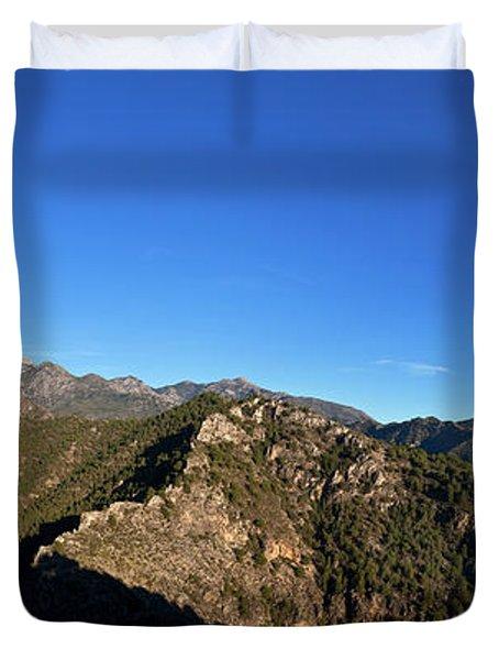 Sierra De Enmedia Mountains,north East Duvet Cover