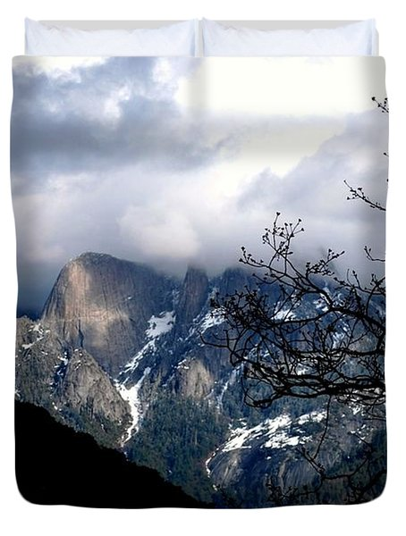 Sierra Nevada Snowy View Duvet Cover by Matt Harang