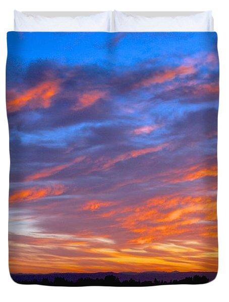 Sierra Nevada Sunrise Duvet Cover