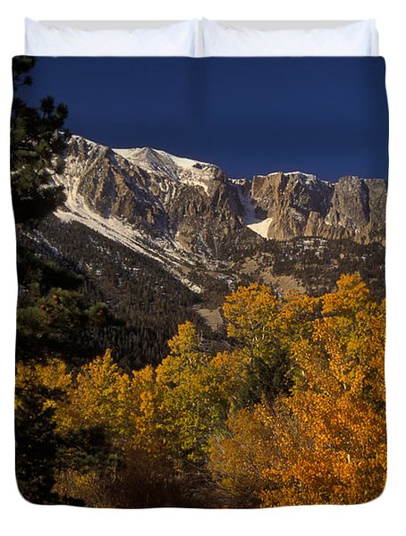 Sierra Nevadas In Autumn Duvet Cover by Ron Sanford