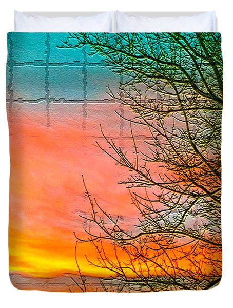 Sierra Sunset Cubed Duvet Cover