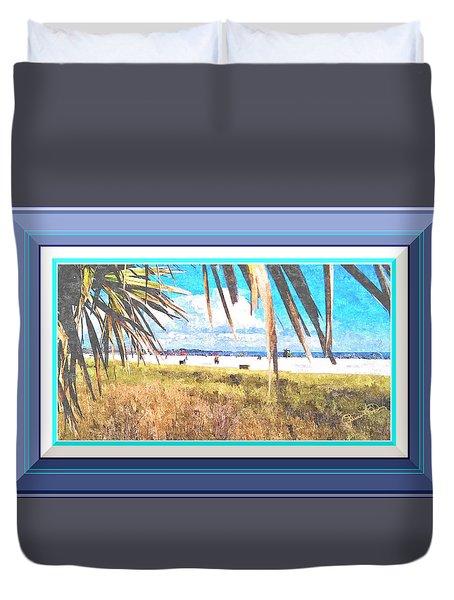 Siesta Key In Fall - Digitally Framed Duvet Cover