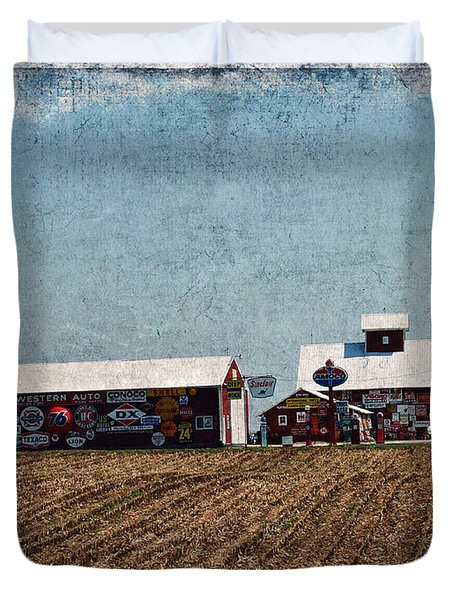 Signs Duvet Cover by Cassie Peters
