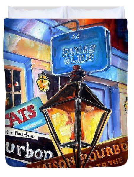 Signs Of Bourbon Street Duvet Cover by Diane Millsap