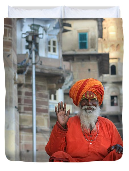 Indian Man Duvet Cover
