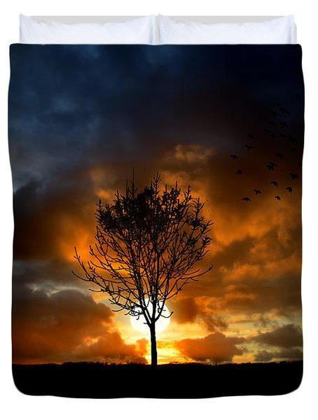Silence Duvet Cover by Lj Lambert