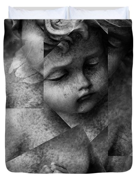 Silence Of A Seraphim  Duvet Cover by Jerry Cordeiro