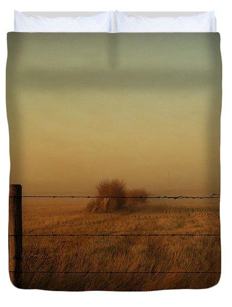 Silence Of Dusk Duvet Cover by Leanna Lomanski