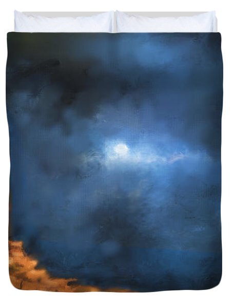 Silence Of The Night Duvet Cover