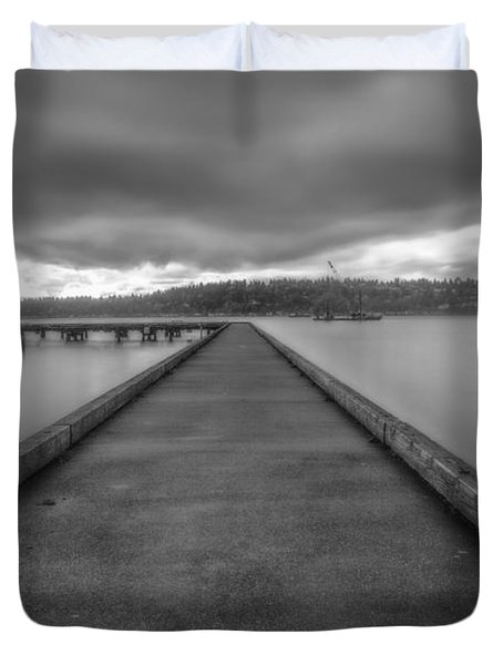 Silent Dock Duvet Cover