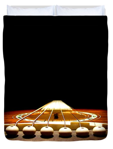Silent Guitar Duvet Cover