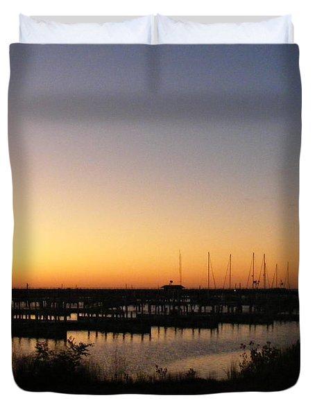 Silent Harbor Duvet Cover