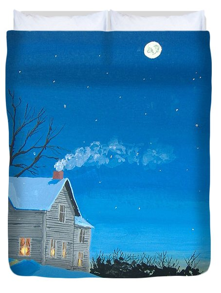 Silent Night Duvet Cover by Norm Starks