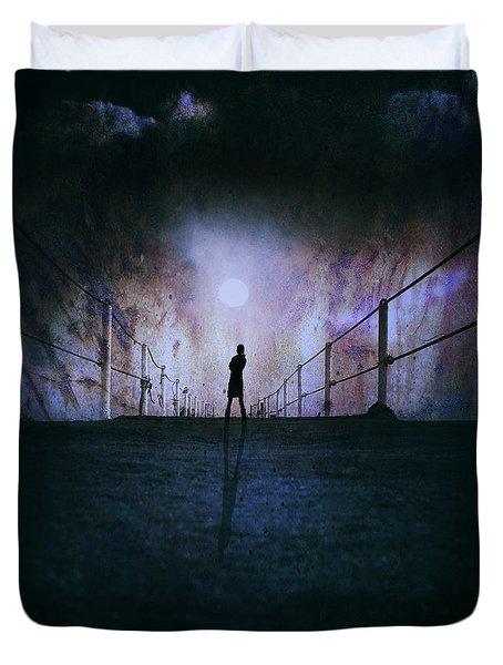 Silent Scream Duvet Cover by Stelios Kleanthous
