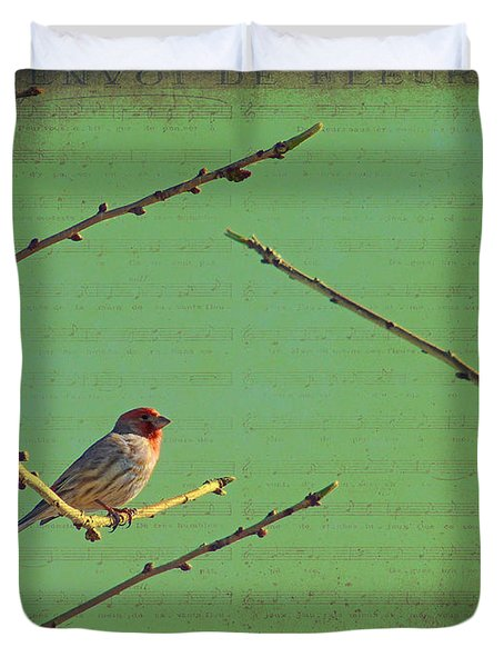 Silent Song Duvet Cover