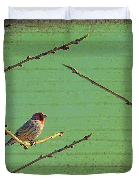 Silent Song Duvet Cover by Meghan at FireBonnet Art