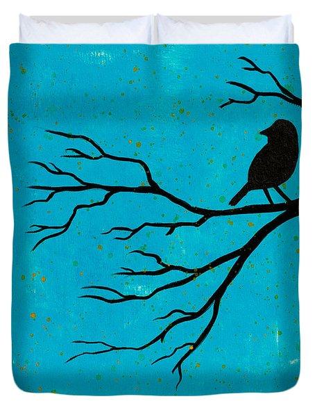 Silhouette Blue Duvet Cover by Stefanie Forck