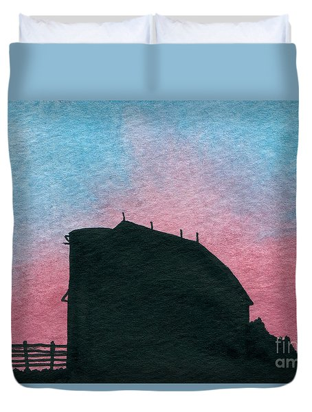 Silhouette Farm Number 1 Duvet Cover