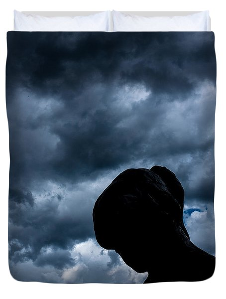 Duvet Cover featuring the photograph Silhouette In Clouds by Ron White