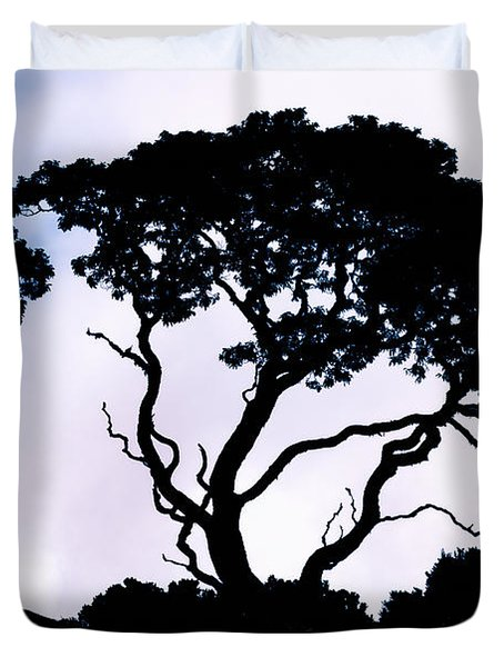 Duvet Cover featuring the photograph Silhouette by Jim Thompson