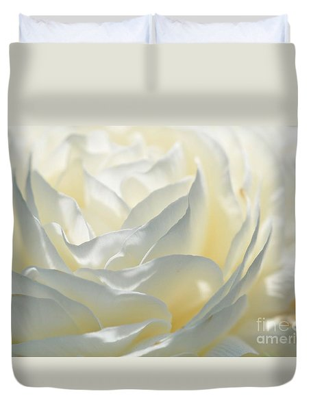 Silk Cream Floral Duvet Cover