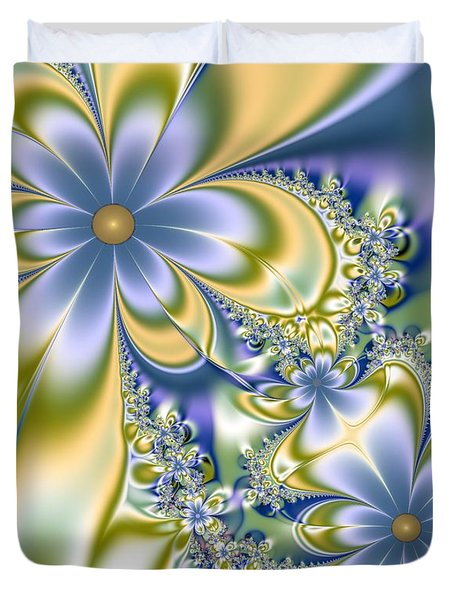 Silky Flowers Duvet Cover